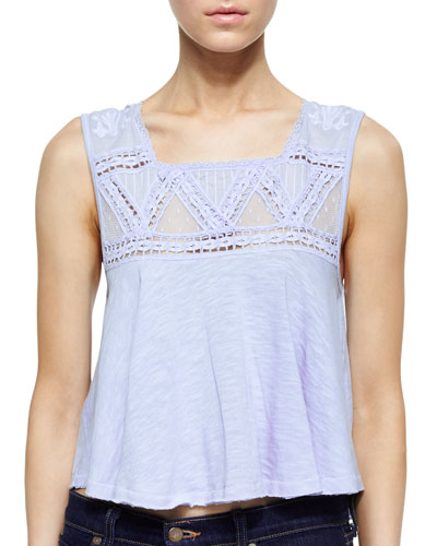 Jersey Costa Mesh Tank, Angel Blue