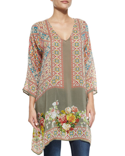 Fiscar Printed Georgette Tunic, Women's