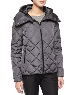 Bourg Quilted Puffer Jacket, Charcoal