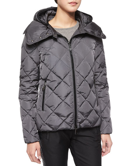 Moncler Bourg Quilted Puffer Jacket, Charcoal