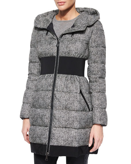 Puivert Belted Puffer Coat, Black