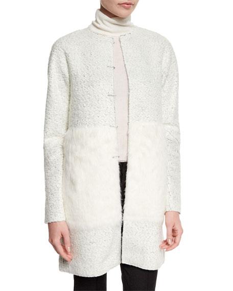 Elie Tahari Leeann Coat W/ Faux Fur