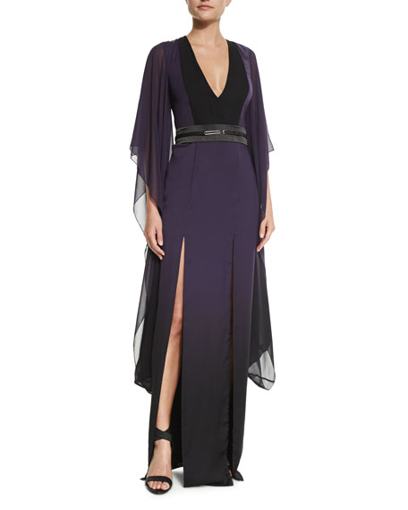 Halston Heritage Long Ombre Caftan Dress