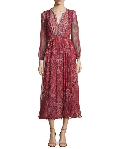 Minerala B Paisley-Print Dress
