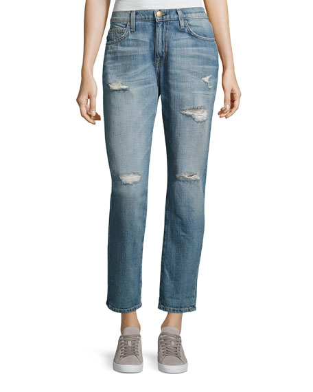 Current/Elliott The Fling Cropped Ankle Jeans, Loved