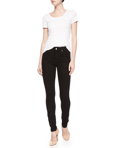 High-Waist Skinny Jeans, Slim Illusion Luxe Black