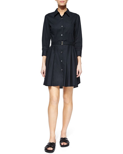 Jalyis Belted Poplin Shirtdress