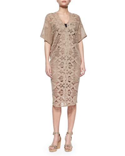 Kate Cotton Crochet Coverup Dress