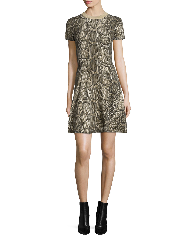 0a6cca76ad5 MICHAEL Michael Kors Columbia Python-Print Sweaterdress
