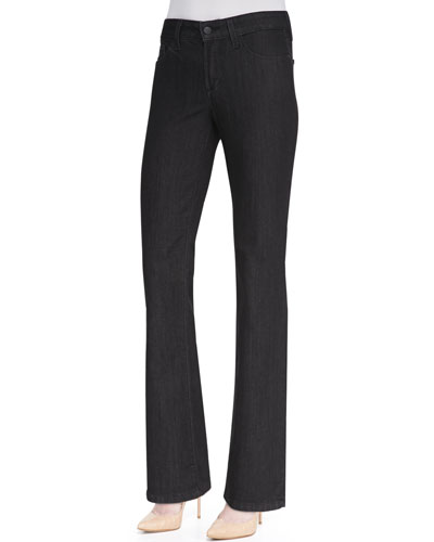 Marilyn Straight-Leg Jeans, Dark Enzyme