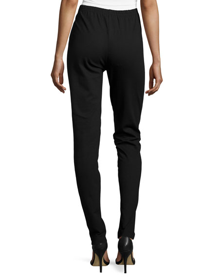 Modern Faux-Leather & Ponte Easy Leggings, Petite