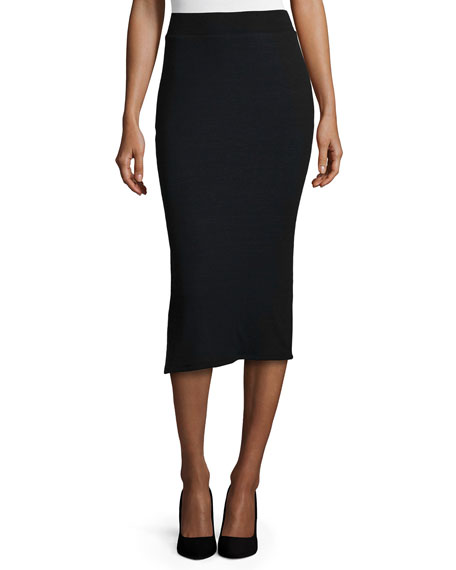 ATM Long Knit Pencil Tube Skirt