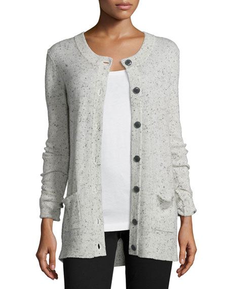 ATM Anthony Thomas Melillo Donegal Cashmere Button-Front Cardigan