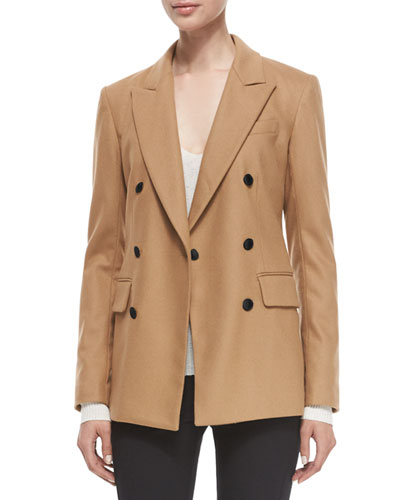 Corin Double-Breasted Wool-Blend Blazer