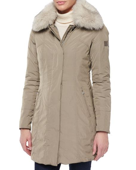 san francisco 3de5b 1aaa2 Metropolitan Fitted Fur-Collar Parka