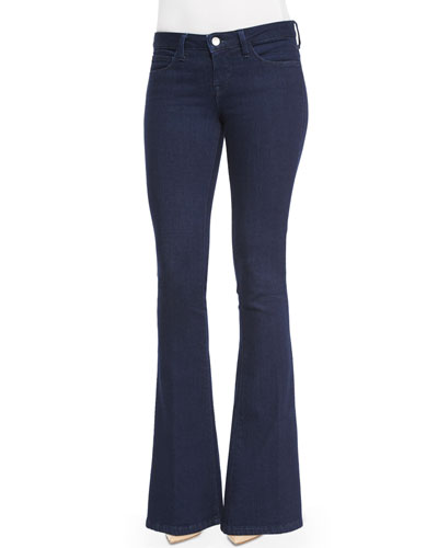 Elyse Low-Rise Flare Jeans, Navy