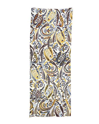 Marina Rinaldi Ikat-Print Wool Scarf
