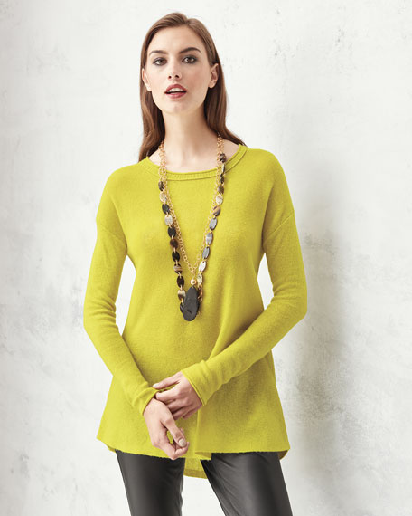 Neiman Marcus Cashmere High-Low Tunic