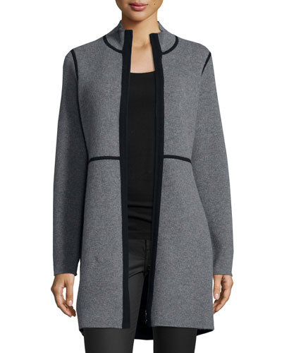 Reversible Cashmere Double-Knit Jacket