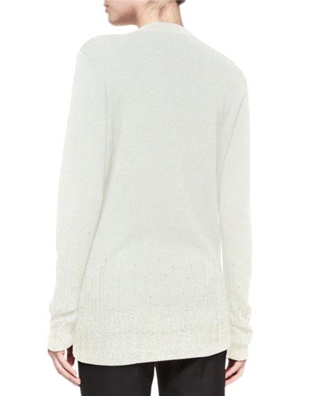 Crewneck Wool Sweater W/ Mohair Trim