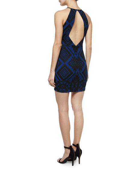 Jaden Geometric Sheath Dress, Gamma