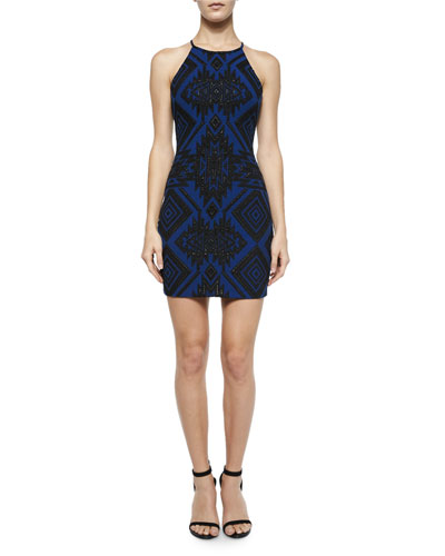 Jaden Geometric Sheath Dress, Gamma