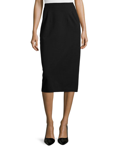 High-Waist Ponte Pencil Skirt