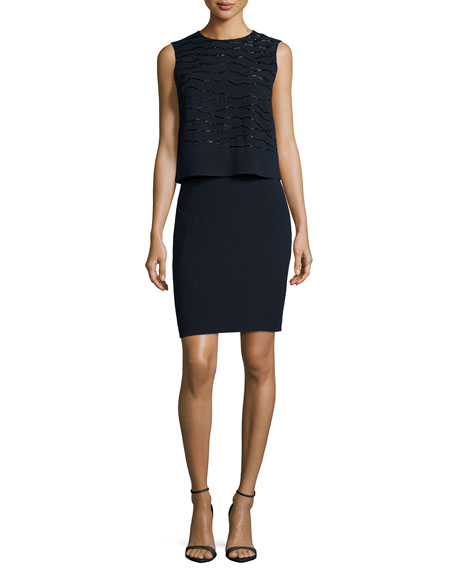 Lafayette 148 New York Chantel Popover Dress W/