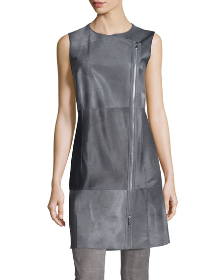 Lafayette 148 New York Blaise Long Calf Hair Vest