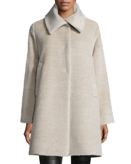 Alpaca-Blend Coat