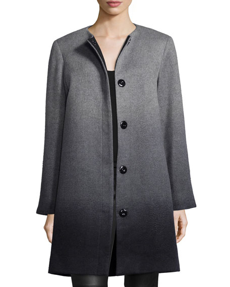 Sofia Cashmere Wool-Cashmere Ombre Coat