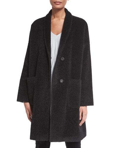 Alpaca-Blend Knee-Length Coat