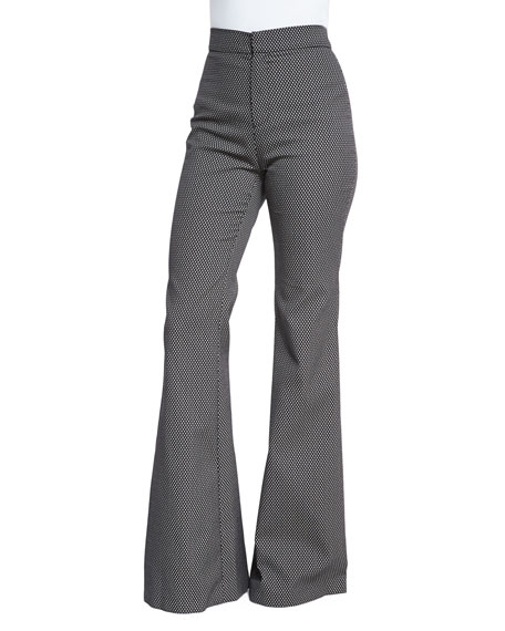 Marissa Webb Jacinta High-Waist Flare Pants, Coal