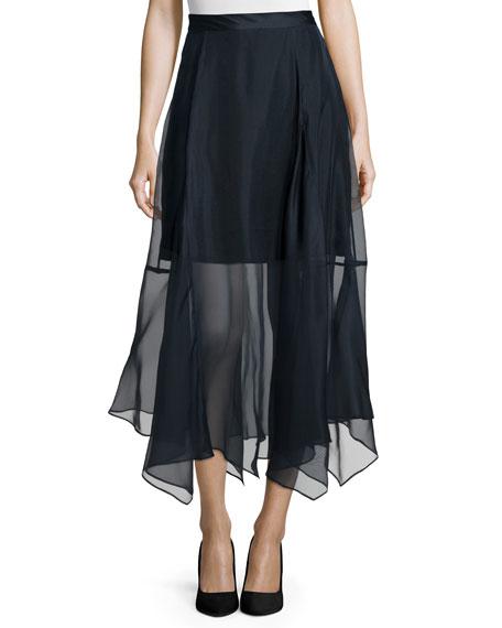 Marissa Webb Yasmin Organza Carwash Skirt, Eclipse