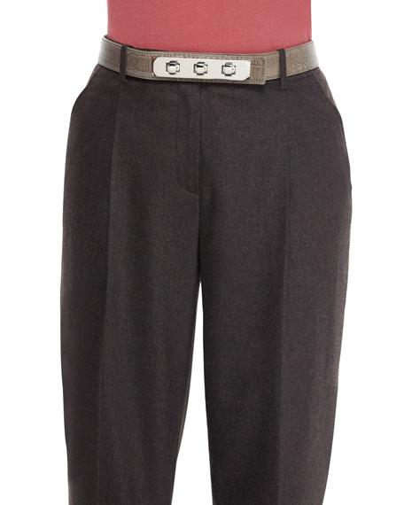 Lafayette 148 New York Skinny Triple-Toggle Belt