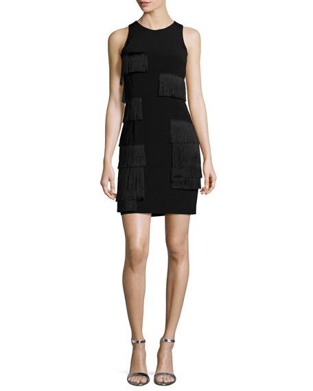 Grace Chadwich Patchwork Fringe Sleeveless Dress