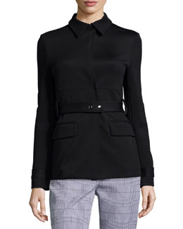 Galilania Knit Belted Jacket