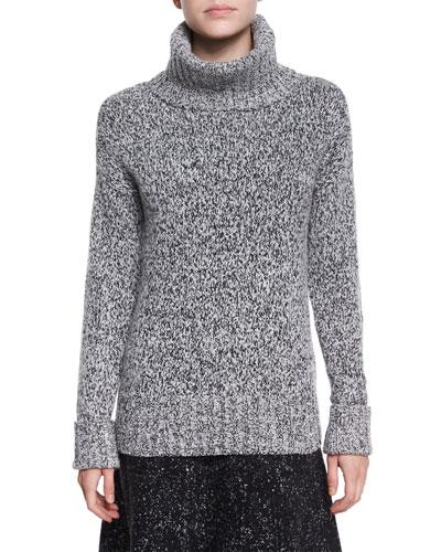 Wyndora Marbal Wool Sweater, Gray