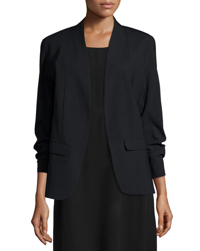 Tropical Viscose-Wool Stretch Shaped Jacket