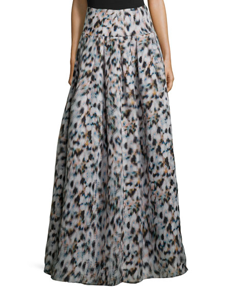 Sachin & Babi Noir Confetti-Print Ball Skirt