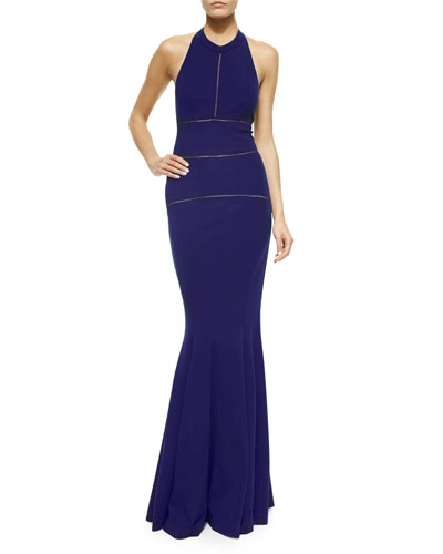 Halter Jersey Mermaid Gown