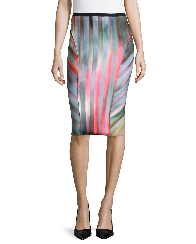 2a39f9c20 Elie Tahari Arianna Reversible Pencil Skirt   Neiman Marcus