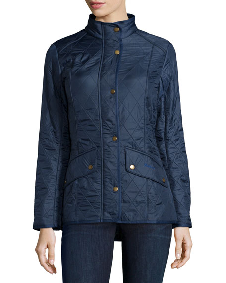 Cavalry Polar Long-Sleeve Snap-Front Quilted Jacket, Dress Blue