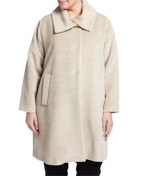 Jane Post Alpaca-Blend Coat, Women's