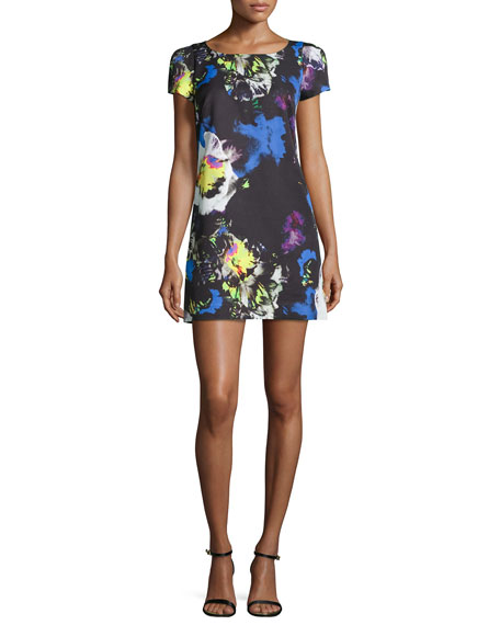 MillyChloe Midnight Floral Dress