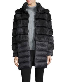 Tallula Convertible Puffer Coat W/ Fur