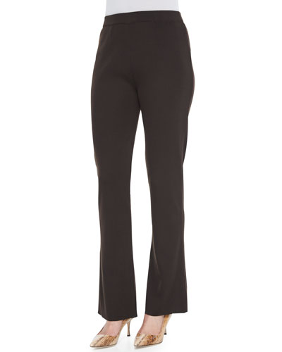 Boot-Cut Knit Pants, Coffee, Women's
