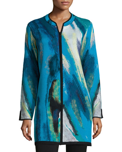 Twilight Blue Long Jacket, Women's