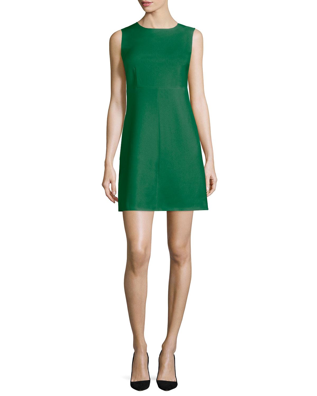 Carrie Sleeveless Sheath Dress Emerald