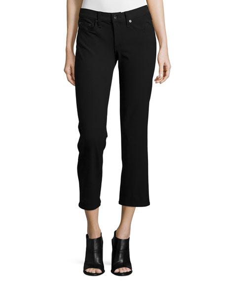 rag & bone/JEAN Cropped Straight-Leg Jeans, Equestrian